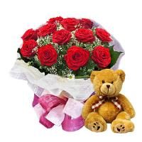 12 Roses and a Teddy